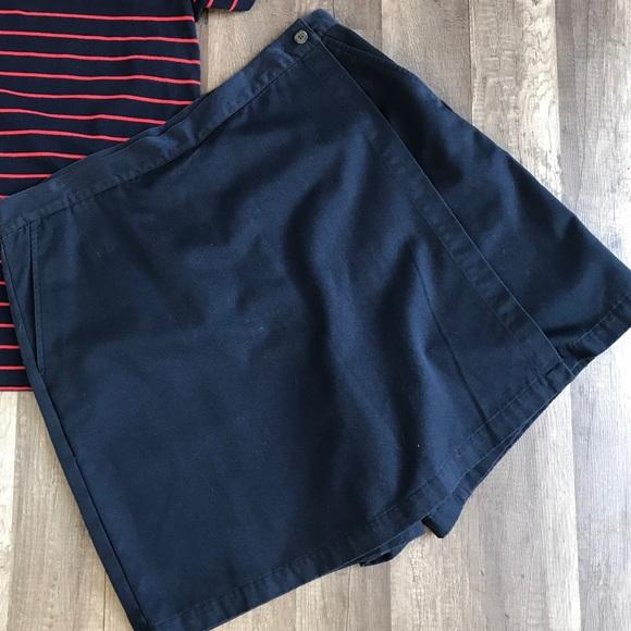 9d77b572202 L.L. Bean Pants - L.L. Bean Navy Skorts Plus Size 18